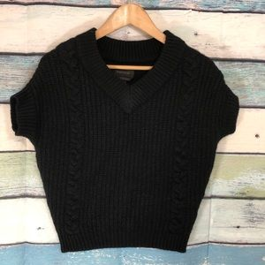 Danier Oversized Crop Cable Knit Sweater